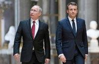 Макрон заявил Путину о поддержке территориальной целосности Украины