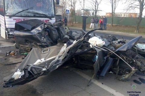В Волынской области четыре человека погибли в ДТП