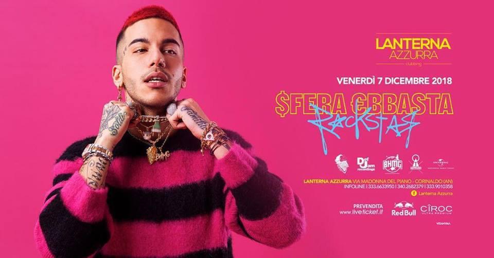 Рекламний постер співака, який виступав у клубі Lanterna azzurra