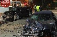 На Соломенской площади в Киеве Mitsubishi с донецкими номерами столкнулся с BMW на польских номерах