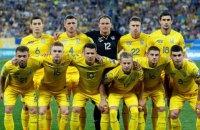 Україна опустилася на дві позиції в рейтингу FIFA