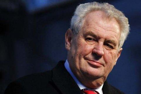 Президент Чехії заявив, що Крим неможливо повернути Україні