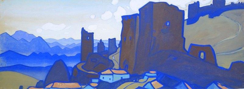 Юрий Химич. Генуэзская крепость (1970-е), гуашь