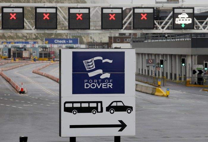 Порт Дувр, Великобритания, 31 января 2020
