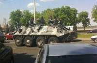 В Одессе также агитируют БТРом