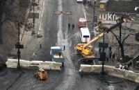 Силовики строят баррикады на Грушевского