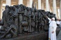 Папа Римський відкрив у Ватикані пам'ятник мігрантам
