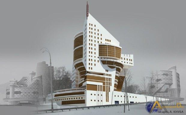 Такой бизнес-центр творческих архитектурных мастерских по задумке Писарца  подготовлен для Протасового Яра в Киеве 7b178a70f04