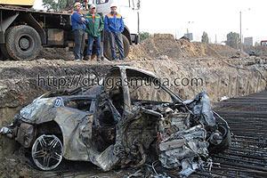 В Киеве сгорел Porsche 911 Carrera: погибли 3 человека