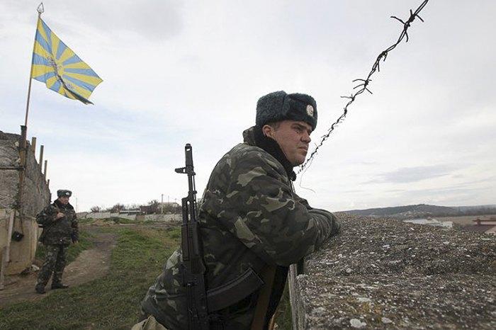 Украинская воинская часть в Бельбеке