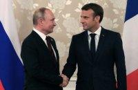 """Макрон и Путин обсудили по телефону подготовку к встрече """"нормандской четверки"""""""