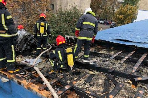 В УПЦ МП заявили, что перед пожаром в здание Лавры проник неизвестный