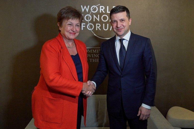 Володимир Зеленський та очільниця МВФ Кристаліна Георгієва