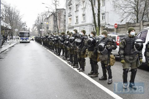 Київська поліція посилила заходи безпеки в урядовому кварталі