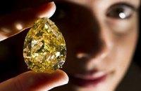 Самый крупный желтый бриллиант установил рекорд на Sotheby's
