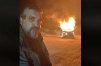 """Головний """"євробляхар"""" спалив свій Land Rover на знак протесту проти законів, ухвалених Радою"""