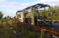 На трассе Харьков-Симферополь горел автобус с пассажирами