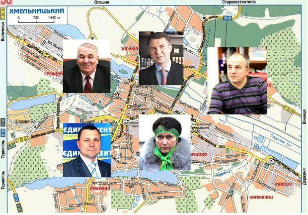 Потенційні кандидати-мажоритарники в Хмельницькому