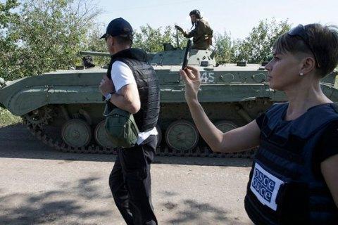 Місія ОБСЄ стала очевидцем атаки бойовиків біля Щастя