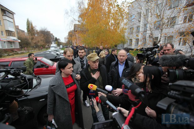 Адвокат Оксана Томчук и депутат Андрей Денисенко