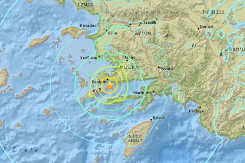 Біля берегів Туреччини і Греції стався потужний землетрус