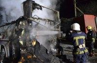 В Ровно сгорел двухэтажный пассажирский автобус