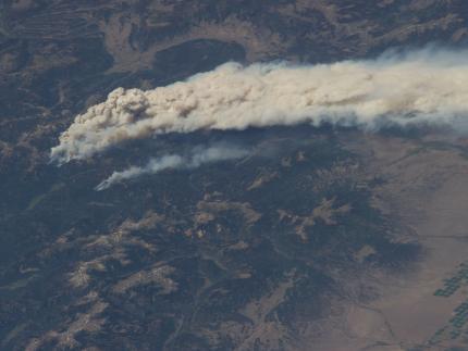 Пожар в Колорадо, вид с МКС