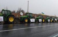 У 13 областях України аграрії перекрили дороги, протестуючи проти продажу землі