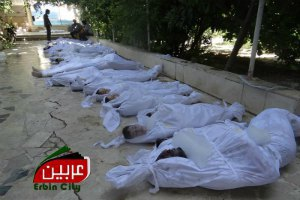 Американские телеканалы показали видео с жертвами химатаки в Сирии
