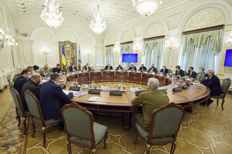 Заседание Совета национальной безопасности и обороны Украины, 15 апреля 2021.