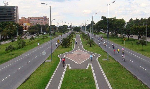 Велодорожки в Боготе