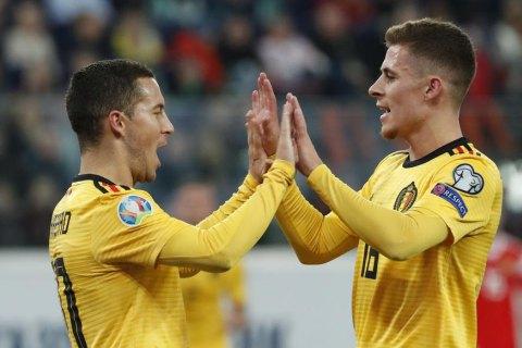 Сборная Бельгии разгромила Россию в отборочном матче к Евро-2020