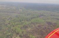 В Чернобыльской зоне отчуждения и Житомирской области продолжается тление после пожаров