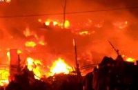 Вогонь дістався другого поверху Будинку профспілок