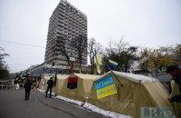 Полиция зашла в палаточный городок у Рады в поисках Саакашвили, произошли столкновения