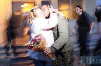 Десантники 25 бригады ВСУ вернулись домой из зоны АТО