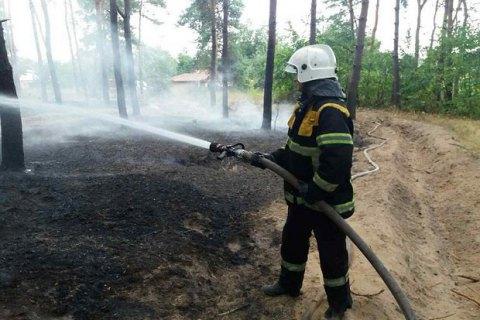 Нагоре Карачун зажегся лес, который немогли потушить из-за мин