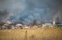 Пожежу на території військового арсеналу в Балаклії ліквідовано