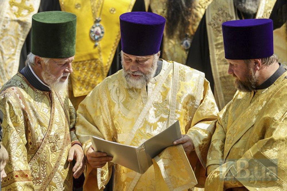 Вадим Новинський (у центрі) під час ходи УПЦ МП з нагоди хрещення Київської Русі - України, 27 липня 2021.