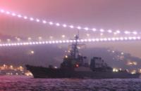 Ракетный эсминец США USS Ross вошел в Черное море