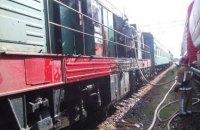 Дизель-поезд Голованевск - Помошная загорелся в Кировоградской области
