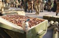 Силовики показали арсенал оружия, найденный в мэрии Славянска (обновлено)