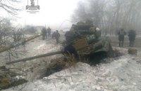 Боевики из-за небрежности на учениях в Донецкой области потеряли два танка