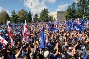 Грузинская оппозиция празднует победу на парламентских выборах