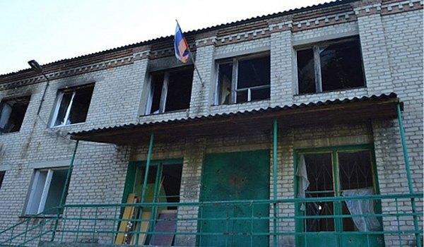 Обстрелянная школа в Зайцево