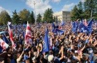 Грузинська опозиція святкує перемогу на парламентських виборах