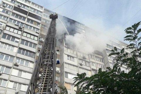 У Києві на Троєщині горіла багатоповерхівка