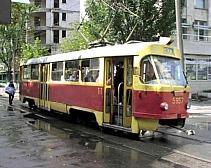 В Красногвардейском районе Днепропетровска сгорел трамвай