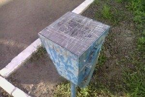 У центрі Донецька бетонні урни замінили металевими
