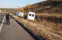 На трассе в Полтавской области микроавтобус насмерть сбил патрульную